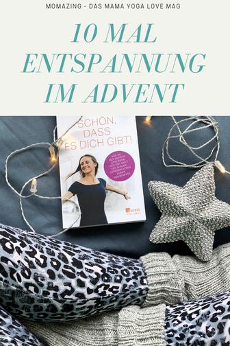 Zehn Mal Entspannung im Advent – Pinterest-Grafik
