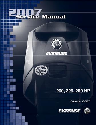 Руководство по ремонту лодочного мотора Evinrude E-TEC 200-250 HP