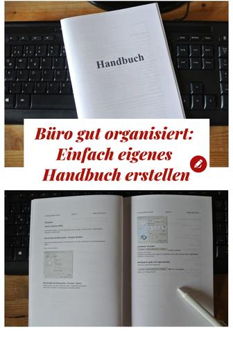 Büroorganisation eigenes Handbuch erstellen #bürotipps