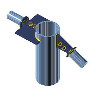 Rohranschluss mit Verbindungsplatten