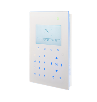 SPCK520.100 Kompakt LCD Smart Bedienteil mit Touch Key-Technologie von Vanderbilt, presented by SafeTech