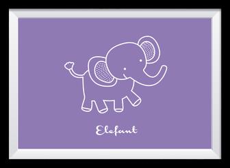 Illustration - Lila Elefant