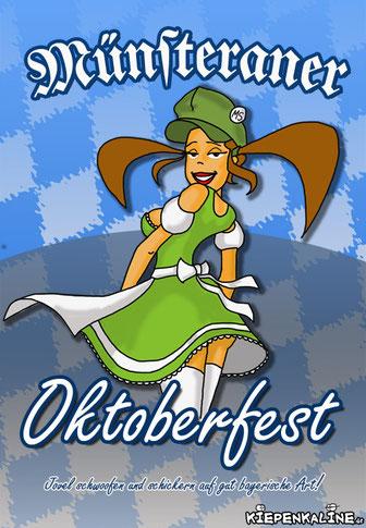 Oktoberfest in Münster. Alle Jahre wieder ein Wahnsinn in Westfalen.