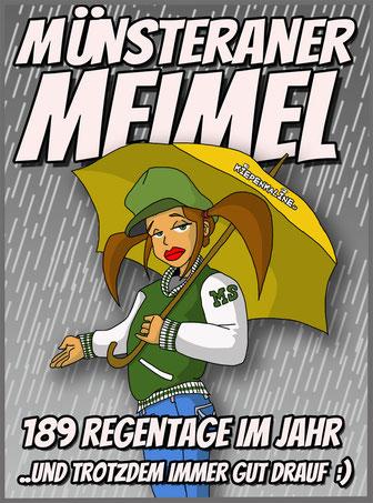 Münster ist bekannt für seine Geschichte, den Kiepenkerl und den ständigen Regen.