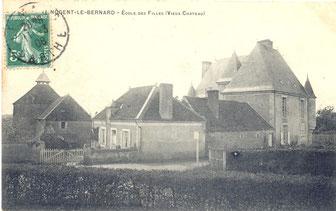 château de haut éclair carte postale ancienne