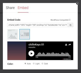 embed code erstellen