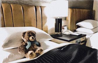 マリオットボンヴォイホテルのベッド