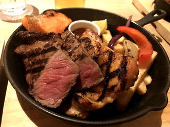 信州グリルコンボディナーのグリル料理