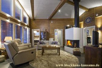 Blockhaus mit Kamin
