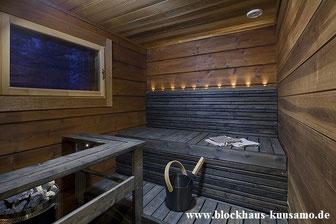 Hausbau - Blockhausbau - Wohnblockhaus mit finnischer Sauna