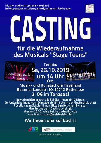 Plakat zum Casting am 26.10.2019 um 14 Uhr