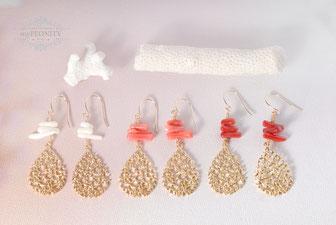 Sommerliche - Korallen Ohrringe mypeonity