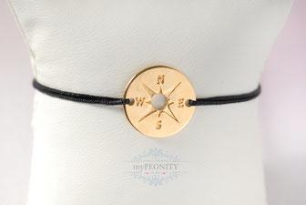 Kompass Freundschaftsband Silber- Goldfarben sommer armbänder