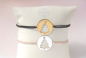 Weihnachtsbaum Weihnachten Geschenk Freundschaftsband Sterlingsilber Silber vergoldet