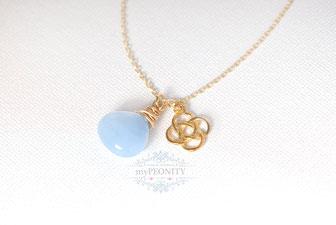 Keltischer Knoten Jade Halskette gordisch