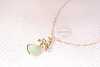Blüten Anhänger Halskette mypeonity