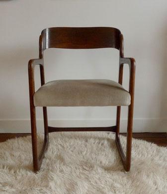 JOLI, fauteuil Traineau Baumann, fauteuil vintage