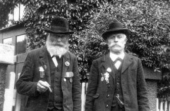 Kriegerverein Derdingen, Veteranen Johann Jacob Pfeiffer und Carl Rau