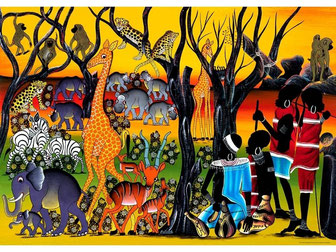 Dipinto Tinga Tinga - Arte pittorica tanzaniana