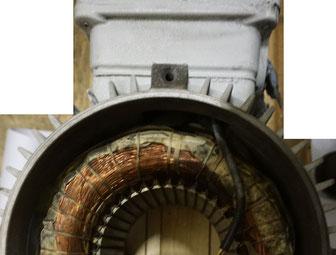 Drehstrommotor Wicklung mit Wicklungsschluss Wickelkopf