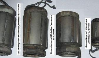 Drehstrommotor Wicklungen Handschleifmaschinen Statorpakete