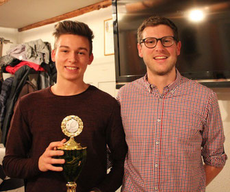Fabian Hass wurde als der Most Improved Player 2015 geehrt