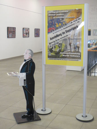Unser Leonid in der Stadtbibliothek / Foto: Peter Hinke