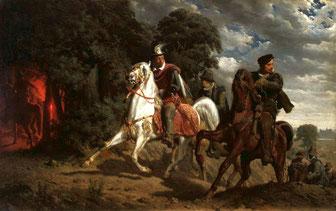 Henri III fuit la Pologne. Source «Grottger Escape of Henry of Valois» par Artur Grottger — Travail personnel (BurgererSF). Source licence Wikimedia Commons - https://commons.wikimedia.org/wiki/File:Grottger_Escape_of_Henry_of_Valois.jp