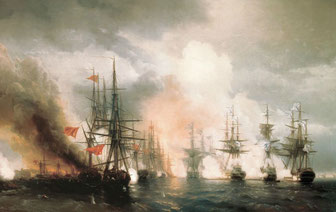 Aivazovsky - Bataille de Sinope - 1853