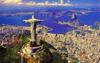 Rio de Janeiro (Brasil)-Corcovado e Pão de Açúcar.