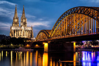 Cologne-Cathedral and Rhine River