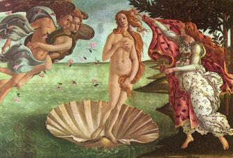ルネサンス-La Nascita di Venere (S. Botticelli)