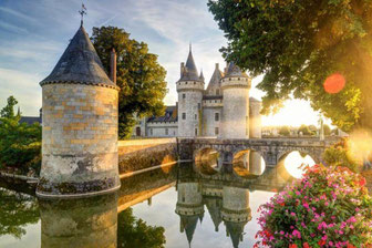 France-Castle of Sully sur Loire in the sunlight