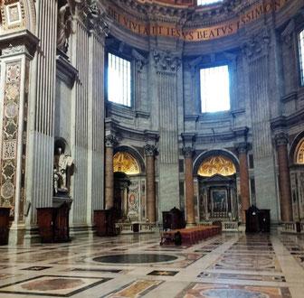 Интерьер собора святого Петра в Ватикане
