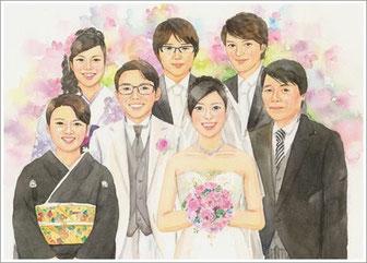 結婚式の似顔絵プレゼント2