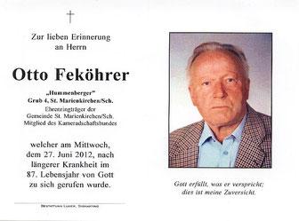 Unterstützendes Mitglied Otto Feköhrer