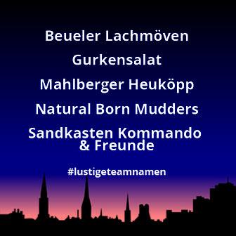 Lustige Teamnamen - Bonner Nachtlauf