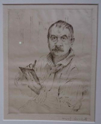 Lovis Corinth, Autoportrait, 1923-4