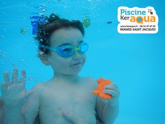 Rennes Piscine ker aqua jardin éveil aquatique immersion apnée enfant