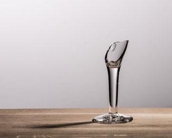 Zerbrochenes Sektglas