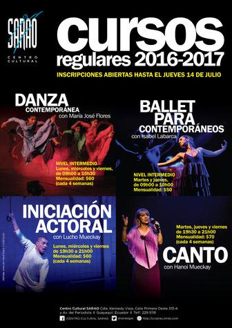 Cursos Regulares 2016-2017. Fotos: Amaury Martínez y Cortesía. Diseño: Eduardo Correa.