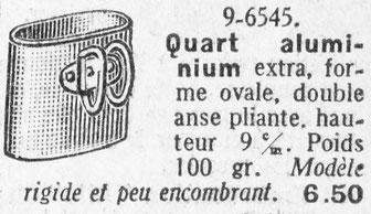 Quart civil dans le catalogue de la Manufacture d'Armes de Saint-Etienne de 1937