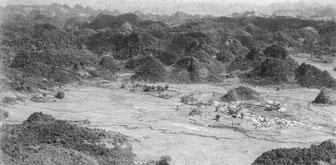 La plaine et la place forte de Dong Khé en 1950 (source caobang.fr)