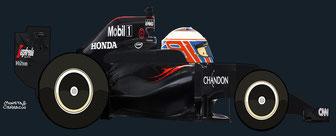 Jenson Alexander Lyons Button by Muneta & Cerracín - McLaren MP4-31 - Honda V6