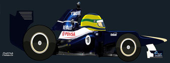 Bruno Senna by Muneta & Cerracín - Williams FW34 - Renault V8