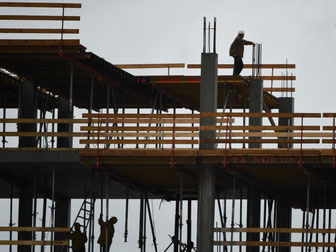 Die Bauunternehmen in Deutschland haben derzeit gut zu tun. Foto: Arne Dedert