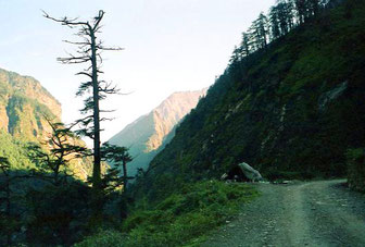 der Weg hinauf nach Nyalam
