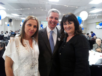 The President Mrs Ioannides,  The Conusl General of Greece Mr A. Gouras and Ms Voula  Moutzouris  Secretary