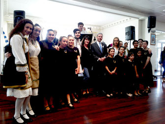 The Consul General of Greece with members of Messinian Dance Group