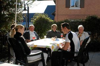 Gartenwirtschaft im Restaurant Tanne in Kandern-Tannenkirch